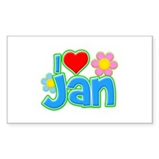 I Heart Jan Rectangle Decal