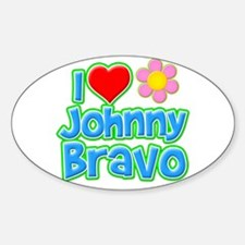I Heart Johnny Bravo Oval Decal