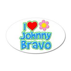 I Heart Johnny Bravo 22x14 Oval Wall Peel