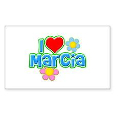 I Heart Marcia Rectangle Decal
