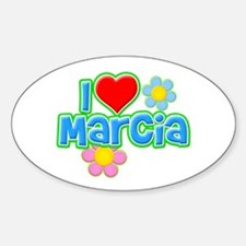 I Heart Marcia Oval Decal