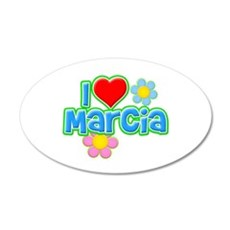 I Heart Marcia 22x14 Oval Wall Peel