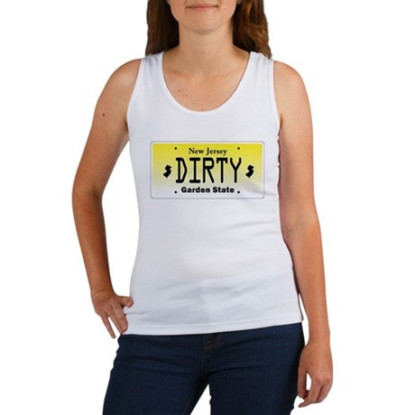 New Jersey DIRTY License Plate Women's Tank Top