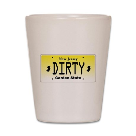 New Jersey DIRTY License Plate Shot Glass