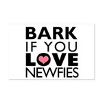 Bark If You Love Newfies Mini Poster Print