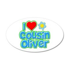 I Heart Cousin Oliver 22x14 Oval Wall Peel