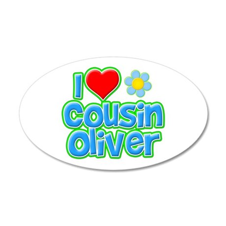 I Heart Cousin Oliver 38.5 x 24.5 Oval Wall Peel