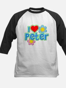I Heart Peter Kids Baseball Jersey