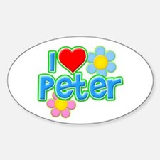 I Heart Peter Oval Decal