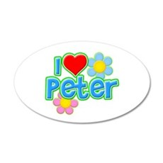 I Heart Peter 22x14 Oval Wall Peel