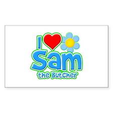 I Heart Sam the Butcher Rectangle Sticker (50 pack