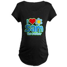I Heart Sam the Butcher Dark Maternity T-Shirt