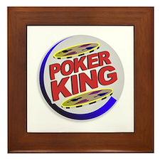 Poker King Framed Tile