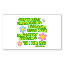 Clowns Never Laughed Before Rectangle Decal