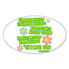 Clowns Never Laughed Before Oval Decal