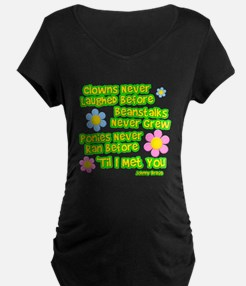 Clowns Never Laughed Before Dark Maternity T-Shirt