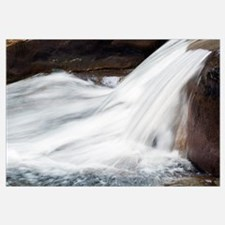 Water cascading over rocks in Big Creek, detail, G