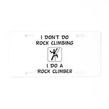 Do A Rock Climber Aluminum License Plate