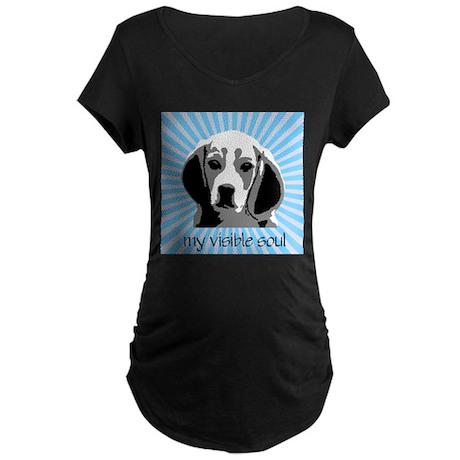 Beagles: My Visible Soul Maternity Dark T-Shirt