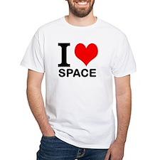 "White ""I HEART SPACE"" T-Shirt"
