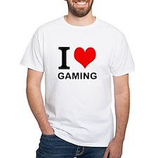 "White ""I HEART GAMING"" T-Shirt"