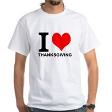 "White ""I HEART THANKSGIVING"" T-Shirt"
