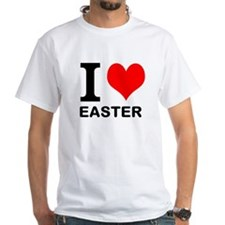 """White """"I HEART EASTER"""" T-Shirt"""