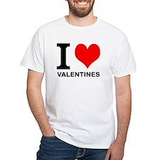 """White """"I HEART VALENTINES"""" T-Shirt"""