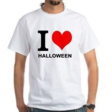 "White ""I HEART HALLOWEEN"" T-Shirt"
