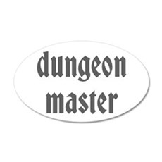 Dungeon Master 22x14 Oval Wall Peel