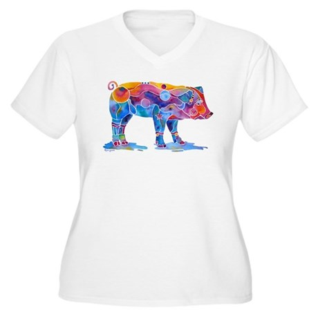 Pigs of Many Colors Women's Plus Size V-Neck T-Shi