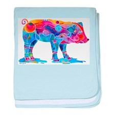 Pigs of Many Colors baby blanket