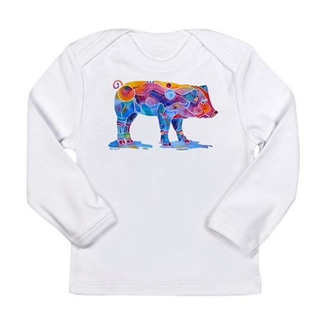 Pigs of Many Colors Long Sleeve Infant T-Shirt