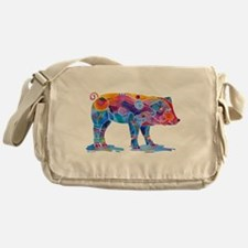 Pigs of Many Colors Messenger Bag
