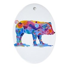 Pigs of Many Colors Ornament (Oval)