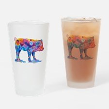 Pigs of Many Colors Drinking Glass