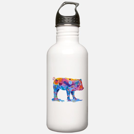 Pigs of Many Colors Water Bottle