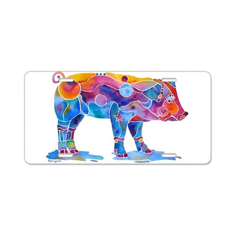 Pigs of Many Colors Aluminum License Plate
