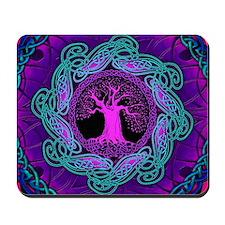 Violet Celtic Wisdom Tree Mousepad
