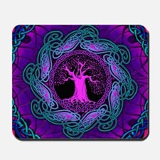 Violet Celtic Wisdom Tree Mousepad
