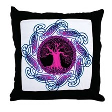 Violet Wisdom Tree Throw Pillow