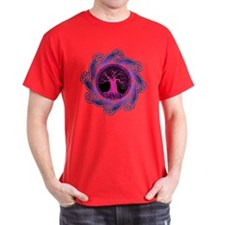 Violet Wisdom Tree Dark colors T-Shirt