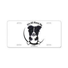 Border Collie IAAM Aluminum License Plate