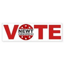 Vote Newt Gingrich Bumper Sticker