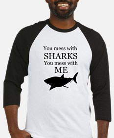 Don't Mess with Sharks Baseball Jersey
