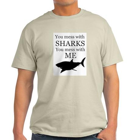 Don't Mess with Sharks Light T-Shirt