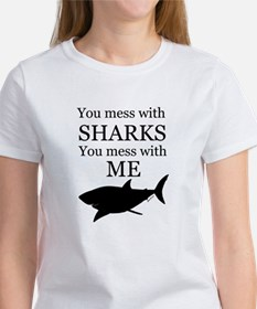 Don't Mess with Sharks Women's T-Shirt