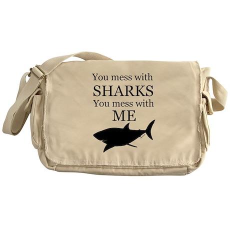 Don't Mess with Sharks Messenger Bag