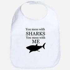 Don't Mess with Sharks Bib