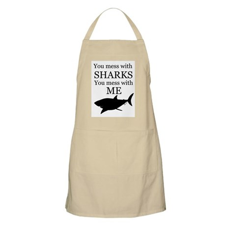 Don't Mess with Sharks Apron